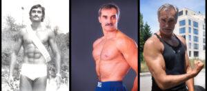 Юлиан Карабиберов на 20 г., 40 г. и 60 год.